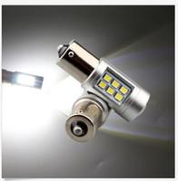 1156 ledli ters ışıklar toptan satış-12 V ~ 24 V 2835 21SMD Lens 1141 1156 1157 BA15S Araba Dönüş Sinyali Işık Geri vites lambası Ampuller Beyaz