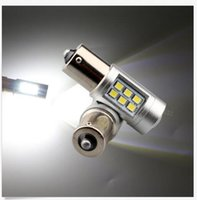 Wholesale led car light bulbs 1156 - 12V~24V 2835 21SMD Lens 1141 1156 1157 BA15S Car Turn Signal Light Reversing lamp Bulbs White