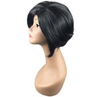 muy pelucas de encaje al por mayor-Las pelucas delanteras del cordón sintético lleno con mejores ventas bob peluca muy bonita hermosa popular elegante recto negro pelucas para la mujer