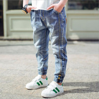 Wholesale corduroy children casual pants online - Brand Jeans Boys Jeans Kids Trousers Fashion Children Boys Jeans Kids Fashion Denim Pants Baby Casual Pants Infant Y