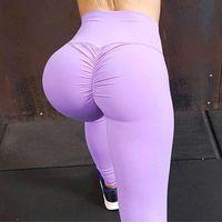 plissierte kleidung großhandel-Multi Plissee Auf Hüften Yoga Hosen Sport Leggings Frauen Laufhose Sportkleidung Kompression Schlank Yoga Leggings Gym Frauen FS5573