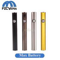 orijinal görüntü döndürücü piller toptan satış-100% Orijinal Amigo Max Ön Isıtma Pil Altın 380 mAh 510 Konu Değişken Gerilim Alt USB Şarj için Vape Pil Kalem Liberty Kartuş