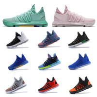 Wholesale turquoise grey - 2018 Basketball shoes Kevin Durant 10 All Star Aunt Pearl BHM Hyper Turquoise City Series Top quality KD 10 men basketball shoes Sneakers