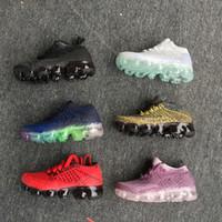 çocuklar mor toptan satış-nike air max airmax vapormax 2018 Vapormax Çocuk Ayakkabı Paten Erkek Kız Koşu Ayakkabıları Çocuk Ayakkabıları Çocuk Spor Sneakers Boyut EUR 28-35
