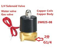 Wholesale Gas Solenoid Valve - Normally closed water valve solenoid valve 2W025-08,AC24 36 110 220V ,DC12V24V, 1 4' for Air Water Gas Diesel