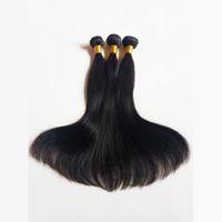 cabelo sexy venda por atacado-Tomada de seda Direto Não Transformados Mink Brasileira Virgem Do Cabelo Humano Peruano Malaio Remy Indiano Cabelo Natural Cor Natural e Preto # 1 # 1b
