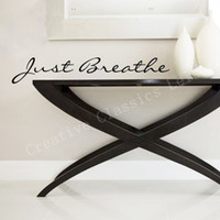 Wholesale 3d wall words sticker for sale - Group buy Just Breathe vinyl decal Vinyl Lettering words graphics bathroom wall decor motivation decal F2080