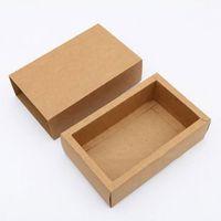 ingrosso scatola per imballaggio al cioccolato-Scatola di carta di nozze 11.2x8.2x4.2cm per i biscotti Scatola di carta kraft per i gioielli fai da te snack cioccolato confezione da imballaggio