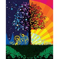 yağlıboya renk ağacı toptan satış-GÜZELLIK 40x50 cm çerçeveli resim tuval üzerine boya diy dijital yağlıboya resim by numbers Renk ağacı dekorasyon zanaat manzara XC-052