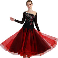 vestido de alto nivel al por mayor-Ballroom Competition Dance Dresses Women 2018 Nuevo diseño High Quality Elegant Standard Ballroom Dressq092