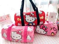 bonjour sacs à main achat en gros de-Bande Dessinée Bonjour Kitty Melody Doraemon Twin Star Sacs À Main Femmes Voyage Sacs Filles Sac D'Épaule Grande Capacité Voyage Sac toile fourre-tout