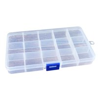 Wholesale Transparent Square Container - Portable 2pcs 15 Grids Transparent Plastic Detachable Jewelry Storage Box Jewelry Bead Screw Fishing Compartment Box Container