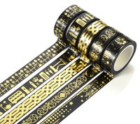 cinta adhesiva decorativa al por mayor-Wholesale-15MMx10M Washi Tape Adhesive Tape Glitter Pattern Tape autoadhesiva decorativa Rollos de decoración