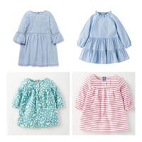 miss rose robes achat en gros de-Miss Haiwo enfants marque vêtements 2018 nouveau Printemps Automne bébés filles enfants coton casual couleur pure coton fille robe de plage robes
