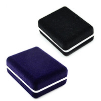 Wholesale Nice Storage - Black Blue High Quality Nice Black Cufflinks Storage Organizer Case Cuff Link Display Holder Box for Jewery Wedding Free Shipping