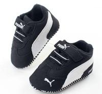 sangles pour marchettes achat en gros de-2019 Nouveau Bébé Garçons Filles Toile Chaussures Haute Qualité Deux Bandes Nouveau-Né Bébé Toddler Mode Premiers Marcheurs Pour 0-18 Mois