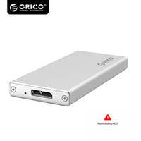Wholesale orico external hard drive resale online - ORICO Aluminum Micro B mSATA Inch mSATA Hard Drive External Enclosure Mobile HDD Case Box for inch SSD MSA U3