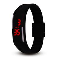 neue art und weise führte uhrfarben großhandel-NEUE Art- und Weisesüßigkeitfarbenuhr 14 Farben Silikongeleeuhr Unisexsportled-Uhr-Männer Frauen scherzt Noten-Digital-Armbanduhrkind