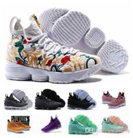 homens sapatos 15 venda por atacado-lebrons james 15 shoes Com caixa, Alta Qualidade Mais Novo Ashes Ghost Cavs J15 Tênis de Basquete Igualdade PE Sneakers 15 s Sapatos Casuais Dos Homens 40-46