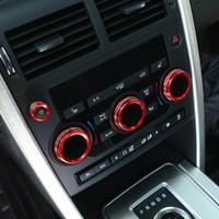 ingrosso tastiere console-console cruscotto anteriore manopola condizionatore pulsante del volume copertura decorativa adesiva assetto per il primo posto gamma Land Rover L405 Accessori Interni