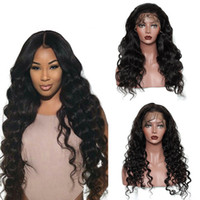 Wholesale Real Hairstyles - Pre Plucked Real Brazilian Human Hair Lace Front Wigs with Baby Hair Body Wave Loose Wave Natural Hairline Wigs Can Be Adjusted Sizes
