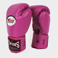 rosa fitnesshandschuhe groihandel-Freies Verschiffen Berufs, das 5 Farben Boxhandschuhgroßhandelsgymnastikeignungsfrauen rosa TWINS Boxhandschuhe tritt