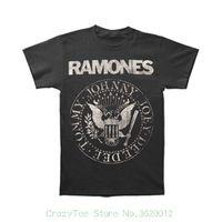 erkek ince tişörtleri toptan satış-O-Boyun Güneş Işığı Erkekler T-shirt Ramones erkek Sıkıntılı Mühür Slim Fit T-shirt Gri