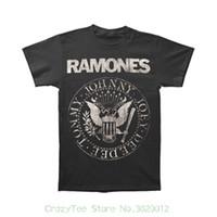 Wholesale Distressed T Shirts - O-neck Sunlight Men T-shirt Ramones Men's Distressed Seal Slim Fit T-shirt Grey