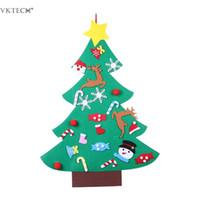 bâton de mur pour chambre d'enfant achat en gros de-Décorations d'arbre de Noël en feutre de bricolage Noël Décorations murales de bricolage pour enfants chambre Stick Stick feutre de Noël arbres enfants cadeaux de Noël