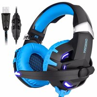 Wholesale red pc computers resale online - Onikuma K2 USB Channel Sound Stereo Gaming Headphones Casque Gamer Headset with Mic LED Light for Computer PC Laptop