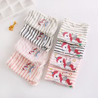 f0526715fd2dd Ins Rainbow Unicorn Baby Kids T-shirt + Shorts 2pcs set Outfit girls boys  Clothes Summer striped tops tee Outwear Pajamas for Toddler hot