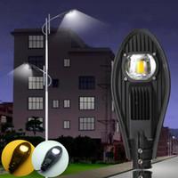 ip67 industrielles geführtes licht großhandel-Geführte Straßenlaterne im Freien 30W 50W 100W 150W 200W StreetLights Super helle hohe Weisenlampe wasserdichtes industrielles Licht IP65
