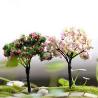 ingrosso alberi da giardino in miniatura-Fai da te Simulazione Fairy Garden Miniature Mini Cherry Tree Salice Home Decor Piante grasse Flowerpot Micro Ornamenti paesaggistici 1 2jq Ww
