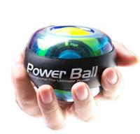 super gyro achat en gros de-Grip bras force balle de poignet auto-start lumineux super gyro Aucun Power Light Wrist Ball Bras Exerciser Renforceur LED avec dispositif de vitesse