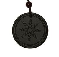 Wholesale scalar energy pendant for sale - Fashion Women Men Quantum Black Necklace Pendant Scalar Orgon Energy neg ions EMF Protection Only Pendant
