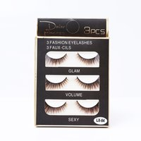 Wholesale brown lashes for sale - Group buy Hot Popular Pairs Set Faux Mink Hair Colorful Eyelashes D Brown Gradient Color False Eyelash Extensions