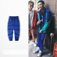 Wholesale Fleece Overalls - 2018 Kanye West Season 4 Sweatpants Mens Active Fleece Elastic Trouser Casual Harem Jogger Pants multi colors