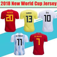 Wholesale soccer sport t shirt resale online - 2018 World Cup Short Sleeved T Shirt Adult Soccer Football World Cup T shirt outdoor sport t shirt LJJE32