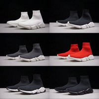Wholesale Womens Black Boot Socks - New Hot Luxury Sock Shoe Speed Trainer Race Fashion Running Shoes Best Quality Sneakers For mens womens Sports Boots Size 5.5-11