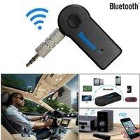 mp3 аудио система оптовых-Bluetooth Music Audio стерео адаптер приемник для автомобиля 3.5 мм AUX Home Speaker MP3 автомобильная музыка звуковая система громкой связи встроенный микрофон