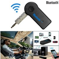 Wholesale transmitter receiver system for sale - Group buy Bluetooth Music Audio Stereo Adapter Receiver for Car mm AUX Home Speaker MP3 Car Music Sound System Hands Free Calling Built in Mic