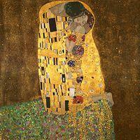 климт картины оптовых-Поцелуй от Gustav Klimt Классическая живопись маслом Репродукция современной галереи Холст Картина на холсте Wall Art для гостиной