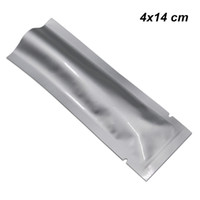 Wholesale food nuts resale online - 4x14 cm Open Top Pure Aluminum Foil Flat Packaging Pouch Vacuum Mylar Foil Heat Seal Food Storage Packing Pack Bag for Seeds Nuts