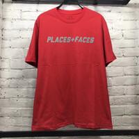 Wholesale Women S P - 2018ss Best Version 1:1a Places+Faces 3M Reflection Logo Printed Women Men T shirts tees Hiphop Streetwear P+F Cotton Men T shirt