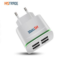Wholesale Usb 5v 4a - HSTRADE USB Smart Charger 4 Ports Multiple Wall Adapter Mobile Phone Device 5V 4A Charge Universal Charging For iPhone HUAWEI