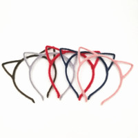 Wholesale Christmas Novelty Fabric - Free Shipping Colorful Women Novelty Cat Ears Headband Hairband Sexy Prop Hair Band Accessories Headwear 20pcs lot