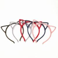 asiatische stirnbänder großhandel-Freies Verschiffen Bunte Frauen Neuheit Katze Ohren Stirnband Haarband Sexy Prop Haarband Zubehör Headwear 20 teile / los