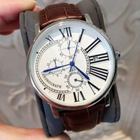 Wholesale Classic Dressing - All Subdials Work Luxury Fashion Man Watches With Date Dress Watch Classic Quartz Watch Sport Leather Wristwatches relojes for male