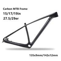 Wholesale 29er mtb - MTB 142 135 carbon mountain bike frame 29er 27.5er carbon mtb frames 650b carbon bike frames DPD duty free shipping