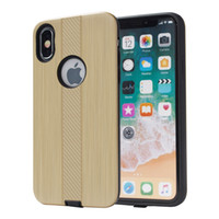 Wholesale galaxy light phone cases online - Armor Hybrid Brushed Case For Samsung Galaxy J6 J4 PC TPU Phone Cover A